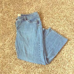 JMS boot cut medium wash jeans!